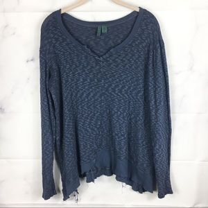 Left of Center | Anthro Navy Distressed Thermal